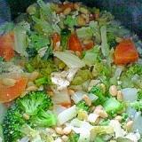 白菜ブロッコリーの鶏納豆煮