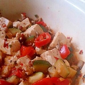 我が家の肉なし野菜たっぷり麻婆豆腐
