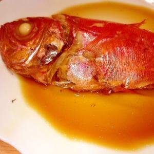 簡単煮物、金目鯛の煮付け
