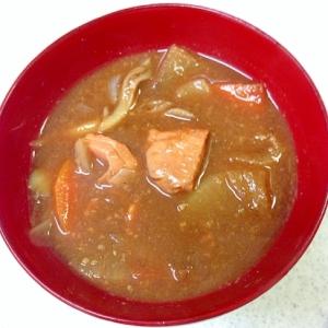 鮭の切り身で 粕汁