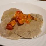 うちバル、蕎麦の夏薬味ラヴィオリ