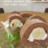 まるごとバナナのふんわりチョコロール☆
