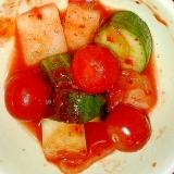 サラダ風トマトのキムチ♪珍しいスピード一品に!