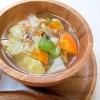 野菜ときのこのコンソメスープ