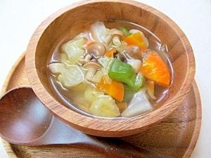 *野菜ときのこのコンソメスープ*