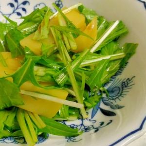 水菜とじゃがいもの中華風サラダ