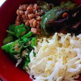 ネバネバ!夏野菜の冷やし中華