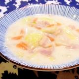 白菜とベーコンの簡単クリーム煮