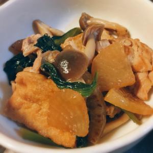 豚バラ大根と小松菜の炒め煮