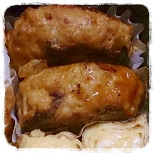 お弁当に煮込みハンバーグ~夕食からのお弁当~