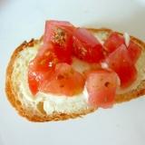 ☆クリームチーズとトマトのトースト☆