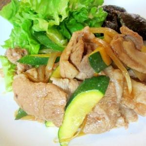 豚肉とズッキーニの生姜炒め