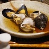 【宮城食材】バイ貝とムール貝の煮物