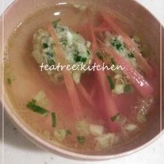 残った餃子の餡で♪餃子スープ