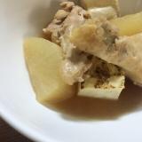 簡単!優しいお味の手羽元・大根・焼き豆腐の煮物