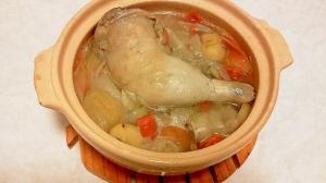 土鍋でサムゲタン風スープ