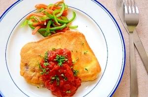 めかじきのピカタ・トマトソースがけ