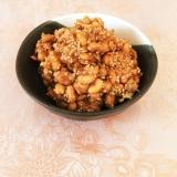 余った福豆でピーナツ味噌風