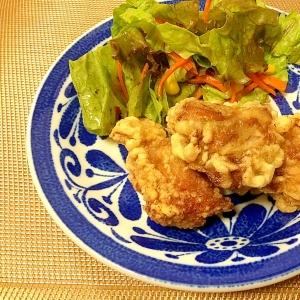 下味は白だしでサックリ鶏天ぷら