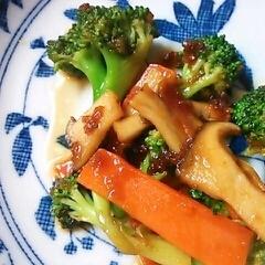 生姜焼きのタレで!ブロッコリーとエリンギ炒め