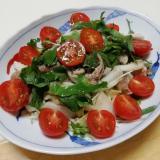 サバ缶とタップリ野菜の和風サラダ