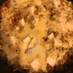豆腐と野菜の卵とじ