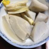 里芋と筍と高野豆腐の白だし煮