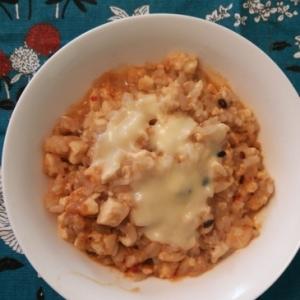 ピリ辛☆豆腐と雑穀ご飯のチーズリゾット