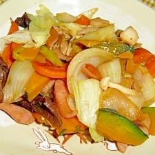 ソーセージ入り野菜炒め