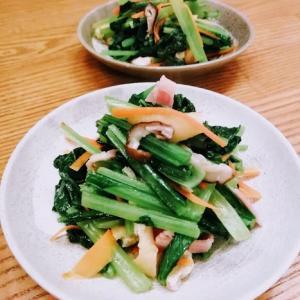 ベーコンと小松菜の煮浸し