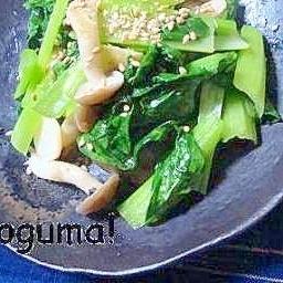 風味がいい~!シンプルな小松菜炒め