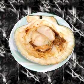 新鮮な焼ホタテ♪ゆずこしょう&醤油味