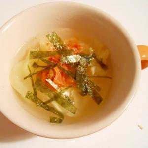 ウェイパーで☆キャベツとキムチの簡単スープ