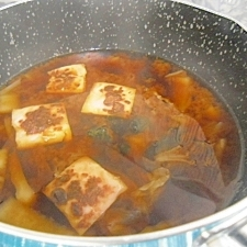 焼き酒粕入り味噌汁