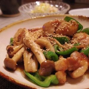 鶏肉とピーマンとしめじの炒め物