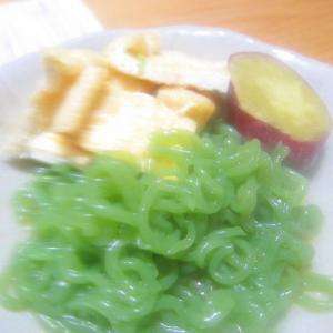 素麺蒟蒻と油揚げのポン酢サラダグリル