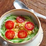 【忙しい朝に!】ふわとろ卵とシャキシャキ胡瓜どん。