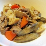 ストウブ鍋でホクホク♪根菜と豚肉の煮物