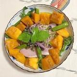 アイスプラント、マンゴーのサラダ
