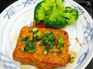 じーっくり焼く 豆腐ステーキ