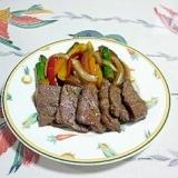 ジンギスカンのたれで、美味しい♪焼肉~ (^○^)