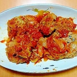 茄子入り煮込みハンバーグ