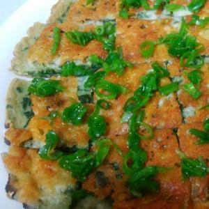 ほうれん草とチーズのカリカリチヂミ
