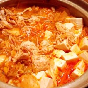 野菜が高い時のキムチ鍋