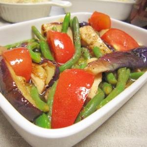 フライパンで☆茄子とキノコのデリ風サラダ♪
