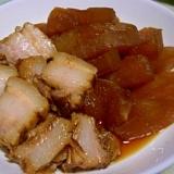 豚肉の甘煮で残った煮汁で 冬瓜煮ちゃいました。