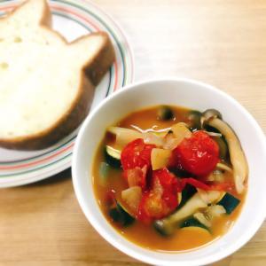 簡単☆ごろごろミニトマトとズッキーニのラタトゥイユ
