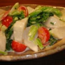 お酢でサッパリ☆カブ&ハムサラダ