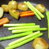 シンプルに野菜の鉄板焼き