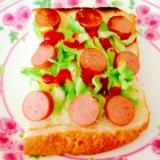 ウインナー☆キャベツ☆トースト